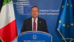 """Draghi: """"La pandemia non è finita, non ne siamo ancora fuori"""""""