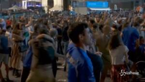 Azzurri ai quarti di di finale, festa dei tifosi in Piazza del Popolo