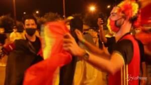 Euro 2020: Belgio ai quarti, la gioia dei tifosi dopo la vittoria col Portogallo