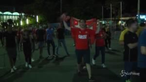 Euro2020, gioia e caroselli in strada dopo la storica vittoria della Svizzera sulla Francia