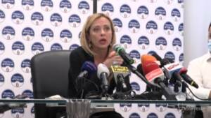 """Napoli, Meloni: """"Senza simbolo di FdI nessun sostegno a candidatura Maresca"""""""