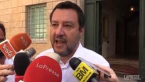 """Crisi M5S, Salvini: """"Conte e Grillo hanno cambiato idea tante volte, hanno torto tutti e due"""""""