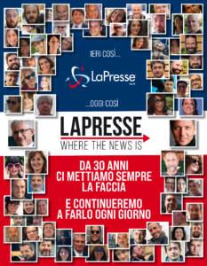 LaPresse manifesto logo