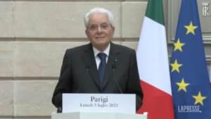 """Mattarella: """"Italia-Francia è partnership essenziale per Ue"""""""