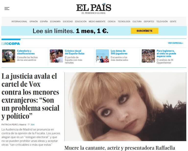 La morte della Carrà nei giornali stranieri