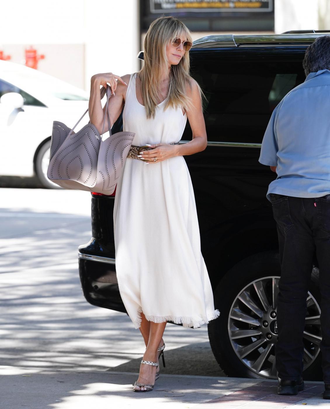 Heidi Klum arriva all'America's Got Talent a Los Angeles
