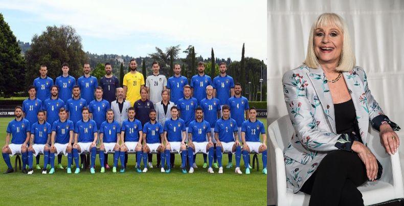 raffaella-carra, azzurri-euro-2020