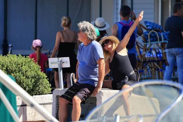 Goldie Hawn e Kurt Russell in vacanza a Saint Tropez
