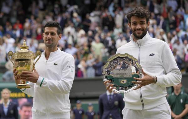 Tennis, Wimbledon 2021 - Finale maschile - Novak Djokovic vs Matteo Berrettini