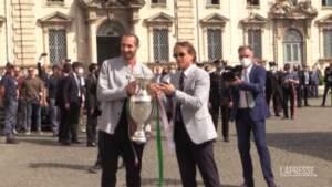 La Nazionale di calcio e Berrettini arrivano al Quirinale