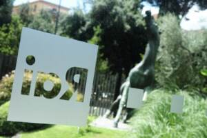 Roma, la sede generale Rai di Viale Mazzini con il cavallo di bronzo dello scultore siciliano Francesco Messina