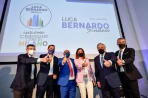 Milano, presentazione candidato sindaco per il centrodestra: Luca Bernardo