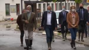 Belgio: i reali in visita a Pepinster, una delle cittadine allagate