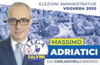 massimo adriatici - santino elettorale