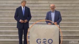 G20, il ministro Cingolani accoglie Kerry a Napoli