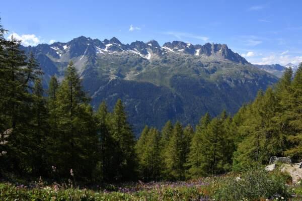 La Mer de Glace nella valle di Chamonix