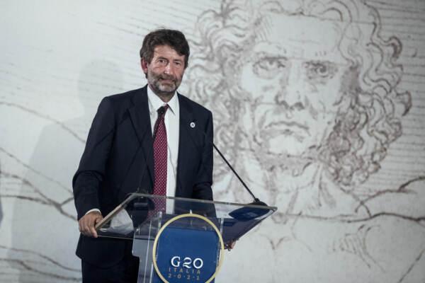 G20 della Cultura - Conferenza stampa finale del ministro Franceschini