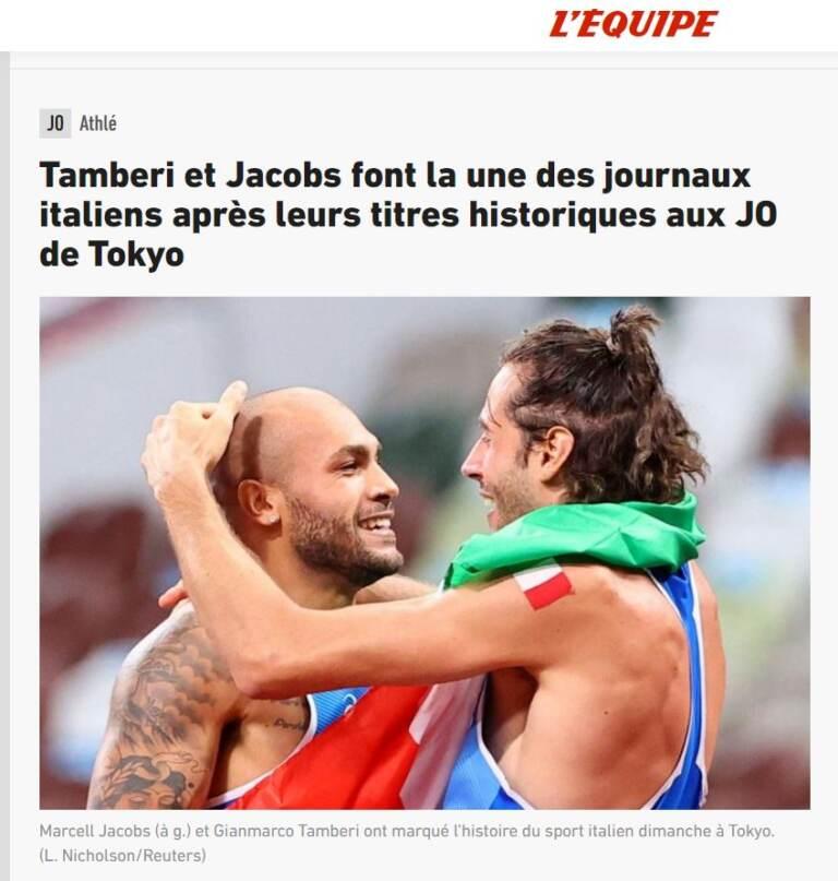 La stampa estera celebra Jacobs e Tamberi