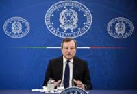 Conferenza stampa del Presidente Mario Draghi al termine del Consiglio dei Ministri