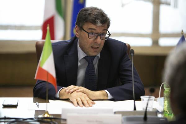 Il ministro Giancarlo Giorgetti incontra Thierry Breton
