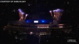 Tokyo 2020: i fuochi d'artificio alla cerimonia di chiusura