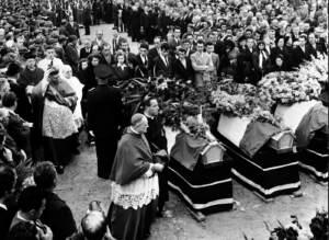 Disastro di Marcinelle, i funerali delle vittime