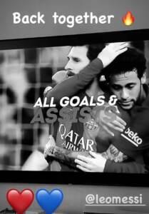 Neymar annuncia Messi al Psg: Di nuovo insieme