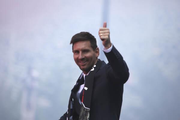 Paris Saint-Germain, la presentazione del nuovo giocatore Lionel Messi
