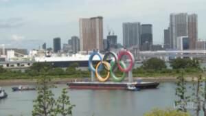 Tokyo 2020, rimosso il simbolo gigante delle Olimpiadi