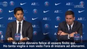"""PSG, Messi si presenta: """"Ho tantissima voglia di vincere"""""""