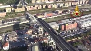 Il Ponte Morandi distrutto