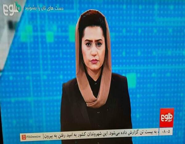 Afghanistan: su Tolo News tornano le conduttrici, intervista ad un portavoce dei talebani