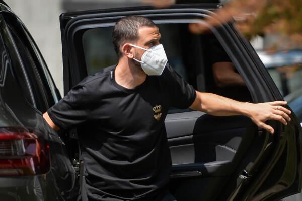 Ac Milan, Alessandro Florenzi arriva alla Clinica Madonnina per le visite mediche