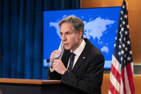 USA, segretario di stato Blinken in conferenza stampa sull'Afghanistan al Dipartimento di Stato