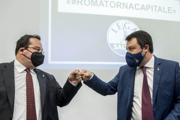 Conferenza stampa Lega 'Roma torna capitale'