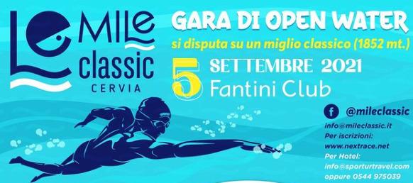 Nuoto in acque libere, il 5 settembre il Cervia Mile Classic