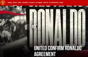 Cristiano Ronaldo è ufficialmente un giocatore del Manchester United