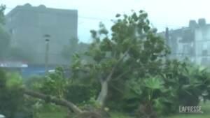 Cuba sferzata dall'uragano Ida