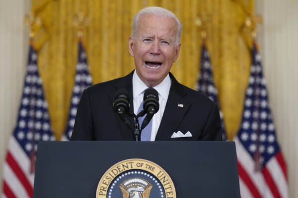 Afghanistan, il presidente americano Joe Biden in conferenza stampa