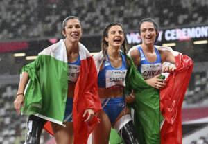 Paralimpiadi, tripletta azzurra nei 100 metri: record del mondo per Sabatini