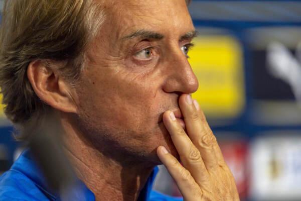 """Nazionale, Mancini: """"Con la Svizzera ci sara' da correre, non pensiamo piu' all'11 luglio"""""""