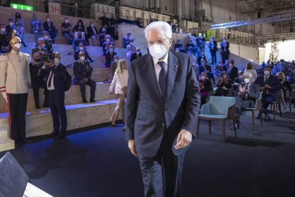 Presidente della Repubblica Sergio Mattarella all'inaugurazione del Salone del Mobile