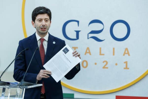 G20, unanimità su Patto di Roma per la salute. Speranza: Covid si vince insieme