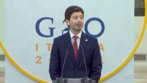 """G20 Salute, Speranza: """"Paesi forti si impegnano a inviare vaccini a Paesi fragili"""""""