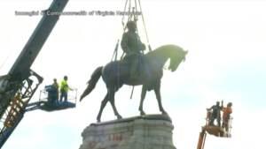 Usa, in Virginia rimossa statua del generale degli Stati Confederati