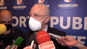 """Medici no vax, De Luca: """"Partiti primi provvedimenti, massimo rigore per non inquinare i reparti"""""""