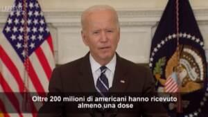 """Usa, Biden agli americani non vaccinati: """"La nostra pazienza sta finendo"""""""