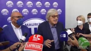 """Sgarbi a Milano per Bernardo: """"Sala è un uomo di destra, non capisco perché la sinistra lo voti"""""""