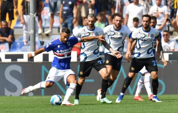 Passo falso dell'Inter: solo 2-2 contro la Sampdoria a Marassi
