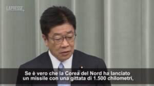 """Corea del Nord, Giappone: """"Preoccupati da test missilistico"""""""